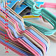 Детские металлические в силиконовом покрытиии плечики вешалки 31 см Все цвета, фото 2