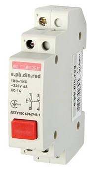 Кнопка управления e.pb.din.red, красный