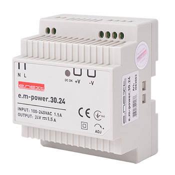 Блок питания на DIN-рейку e.m-power.30.24 30Вт, DC24В