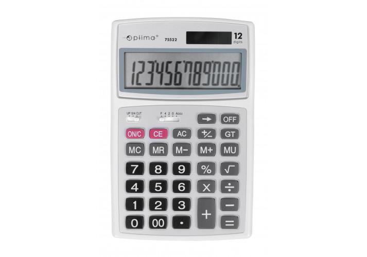 """Калькулятор """"Optima"""" настольный 12 разрядов (179*116*35) O75522"""