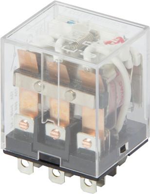 Реле промежуточное с LED-индикацией e.control.p1036L, 10А, 230В AC, на 3 группы контактов
