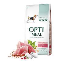 Optimeal сухой корм для собак средних пород с индейкой 12КГ