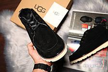 Угги мужские UGG David Beckham Boots, Замш (черные) Top replic  , фото 2