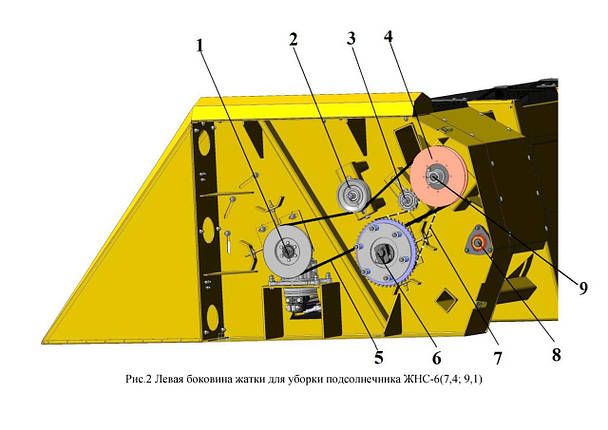 Левая боковина жатки ЖНС-6(7,4; 9,1), фото 2