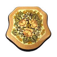 Шкатулка деревянная расписная Мстера