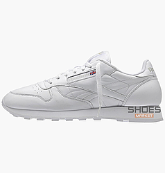 Мужские кроссовки  Reebok Classic Leather White 9771
