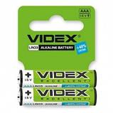 Батарейка Videx LR03 Alkaline (AAA) shrink card, фото 2