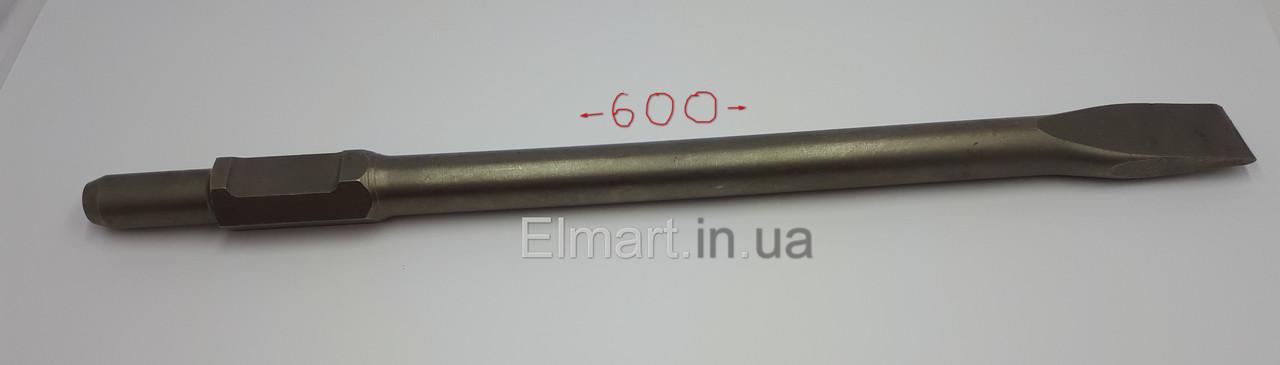 Зубило для отбойных молотков Плоское шестигранное d 600 мм Ø30 мм