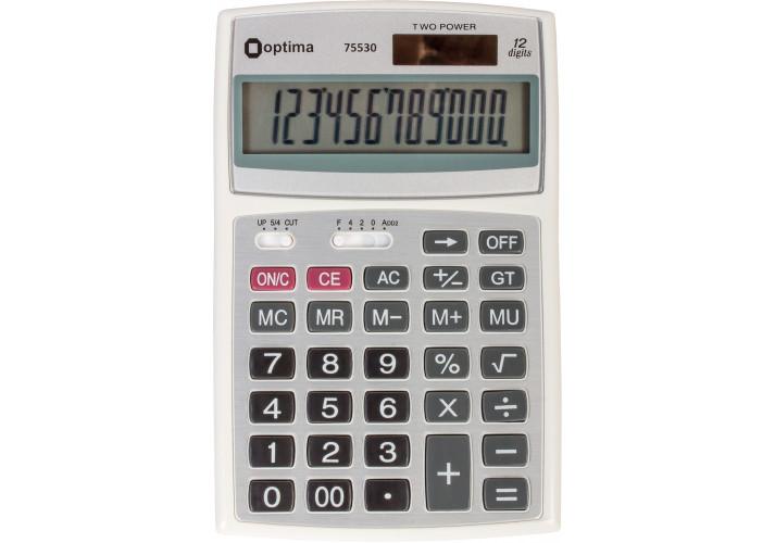 """Калькулятор """"Optima"""" настольный 12 разрядов (143*94*29) O75530"""