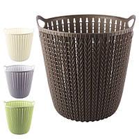 Кошик - плетінка R85459 пластик, 29 * 29см, овальна, різні кольори, Кошики для білизни, Пластикові корзини для речей