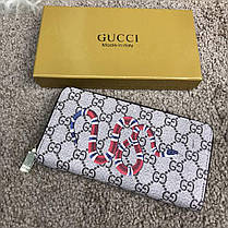 Gucci Wallet Kingsnake GG Supreme Zip Around, фото 3
