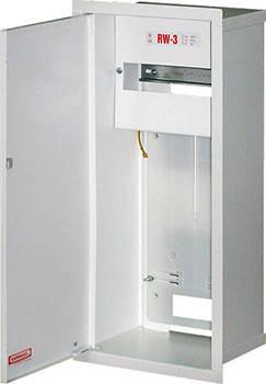 Шкаф распределительный e.mbox.RW-3 мет. встраиваемый, 3-ф. счетчик,12 мод.,  560х255х185 мм