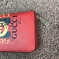 Gucci Print leather Future Zip Around Wallet Red, фото 2