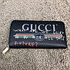Gucci Print leather Future Zip Around Wallet Black, фото 5