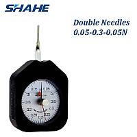 Граммометр часового типа Shahe ATN-0.3-2 (0.05-0.3 N с ценой деления 0,01N) с двумя стрелками