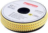"""Маркер кабельный e.marker.stand.1.2.5.3, 1-2,5 кв.мм, """"3"""", 1000 шт"""