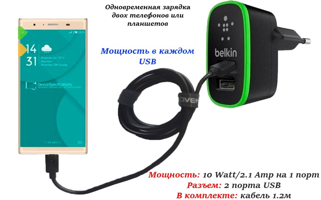 Сетевое зарядное устройство для Doogee Y300