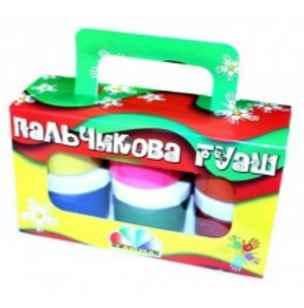 Фарби пальчикові Гамма 6 кольорів, 360мл, фото 2
