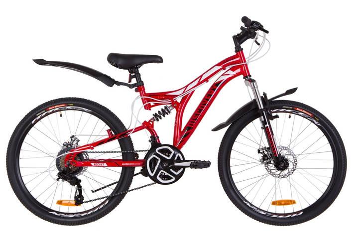 """Велосипед 24"""" Discovery ROCKET AM2 14G DD St с крылом Pl 2019 (красно-белый с черным), фото 2"""