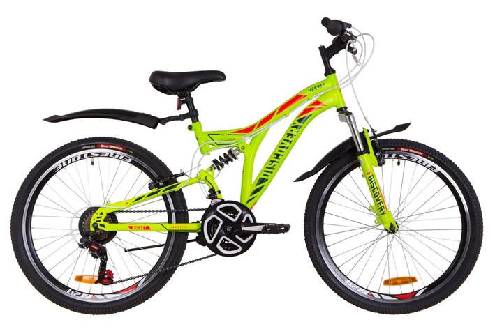 """Велосипед 24"""" Discovery ROCKET AM2 14G Vbr St с крылом Pl 2019 (зелено-красный (м)), фото 2"""