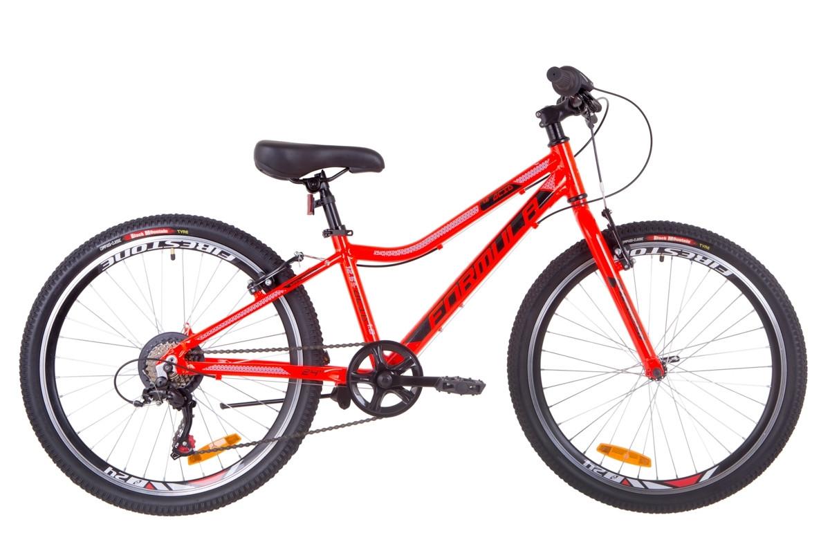 """Велосипед 24"""" Formula ACID 1.0 14G Vbr Al 2019 (красно-черный с синим)"""