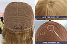 Натуральный светло русый парик с чёлкой, длинный из натуральных волос, фото 9