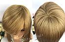 Натуральный светло русый парик с чёлкой, длинный из натуральных волос, фото 7