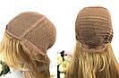 Натуральный светло русый парик с чёлкой, длинный из натуральных волос, фото 8