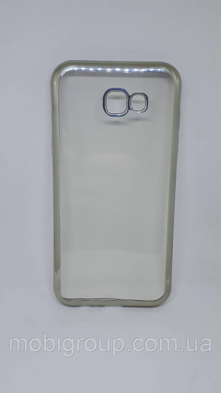Чехол силиконовый с бампером под металик Samsung A720 (2017)