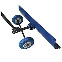 Лопата для снега ручная, снегоуборочный отвал на колесиках с регулируемой ручкой