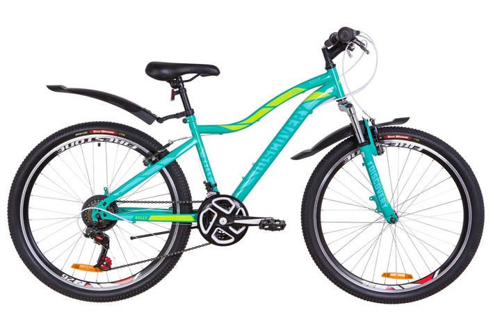 "Велосипед 26"" Discovery KELLY AM 14G Vbr St с крылом Pl 2019 (зеленый), фото 2"
