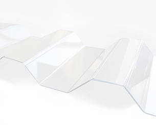 Градостойкий Профилированный монолитный поликарбонат ТМ Borrex 0.8мм 105х300см прозрачный