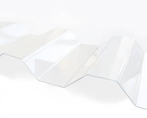 Градостойкий Профилированный монолитный поликарбонат ТМ Borrex 0.8мм 105х400см прозрачный