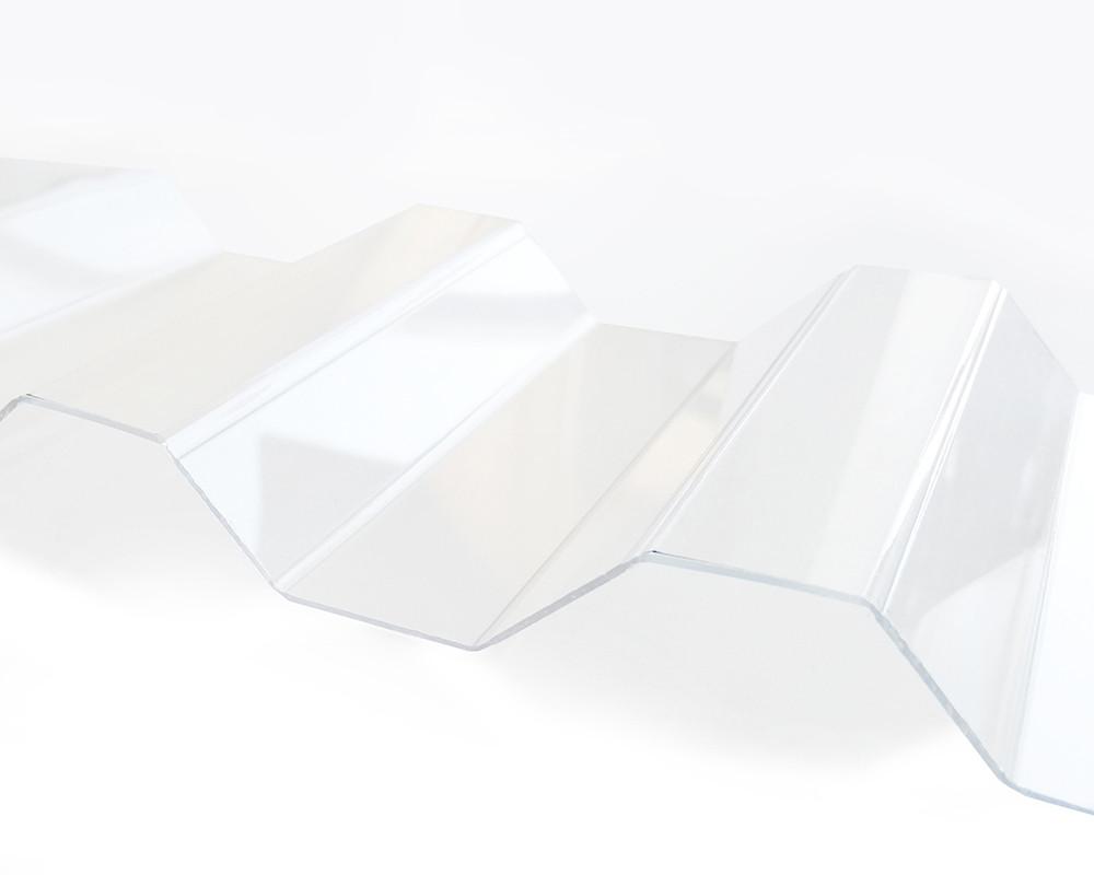 Профилированный монолитный поликарбонат ТМ Borrex 0.8мм 105х600см прозрачный