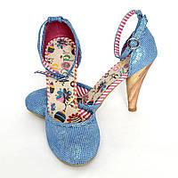Туфли женские летние голубые Dolly Do размер 38