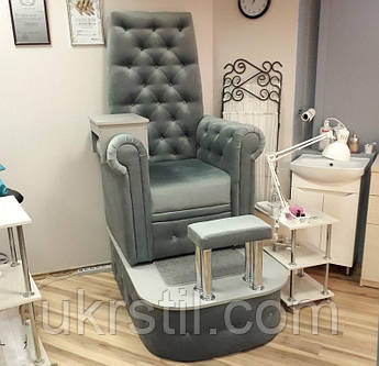 Педикюрное кресло профессиональное Трон Queen velours