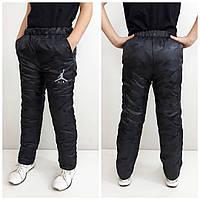 Зимние штаны детские, подросток , цвет черный  165 см