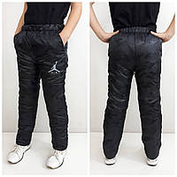 Зимние штаны детские, подросток , цвет черный  170 см, фото 1