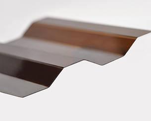Градостойкий Профилированный монолитный поликарбонат ТМ Borrex 0.8мм 105х400см янтарный