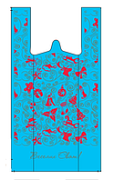 Новогодний пакет майка 30-50 см /уп-100 шт