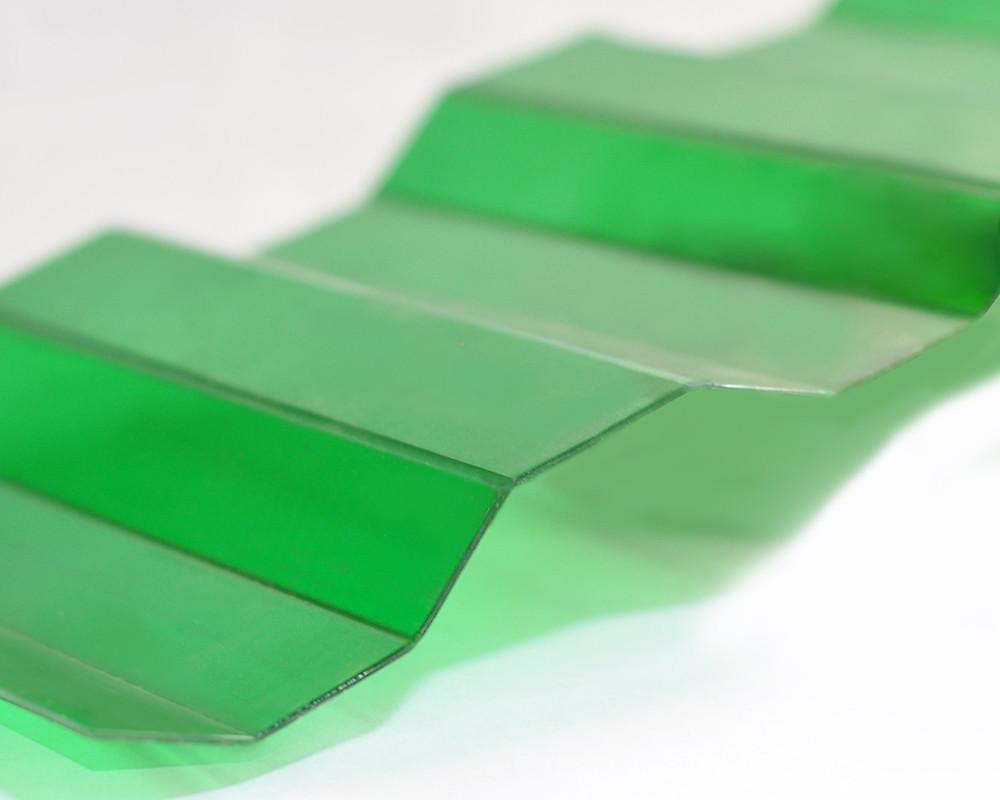 Градостойкий Профилированный монолитный поликарбонат ТМ Borrex 0.8мм 105х300см зеленый