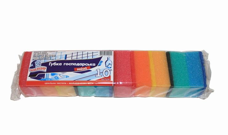Мочалка для посуды МИНИ-10шт МД (68*45*30)