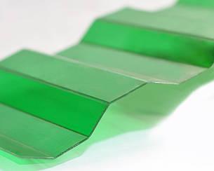 Градостойкий Профилированный монолитный поликарбонат ТМ Borrex 0.8мм 105х400см зеленый