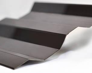 Градостойкий Профилированный монолитный поликарбонат ТМ Borrex 0.8мм 105х200см коричневый матовый