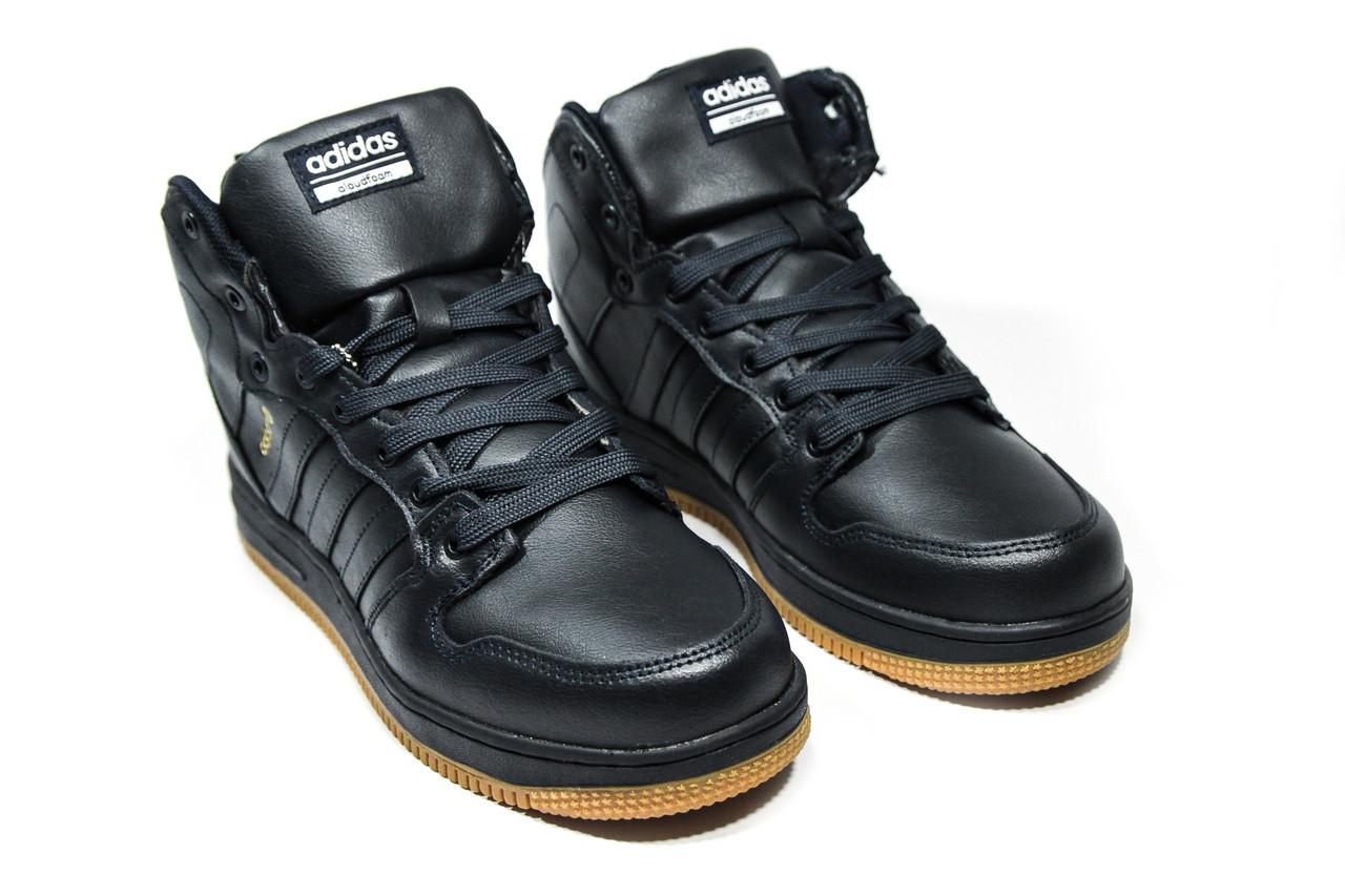 Зимние ботинки (на меху) мужские Adidas Cloudfoam (реплика) 3-046 ... 17739e288c9