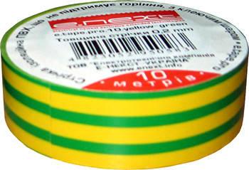 Изолента e.tape.stand.10.yellow-green, желто-зелена (10м)