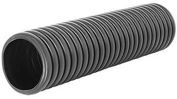 Труба гофрированная двустенная черная e.kor.tube.black.63.52, 63/52мм (50м)