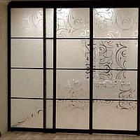 Раздвижные алюминиевые межкомнатные перегородки «Профилко» PR26