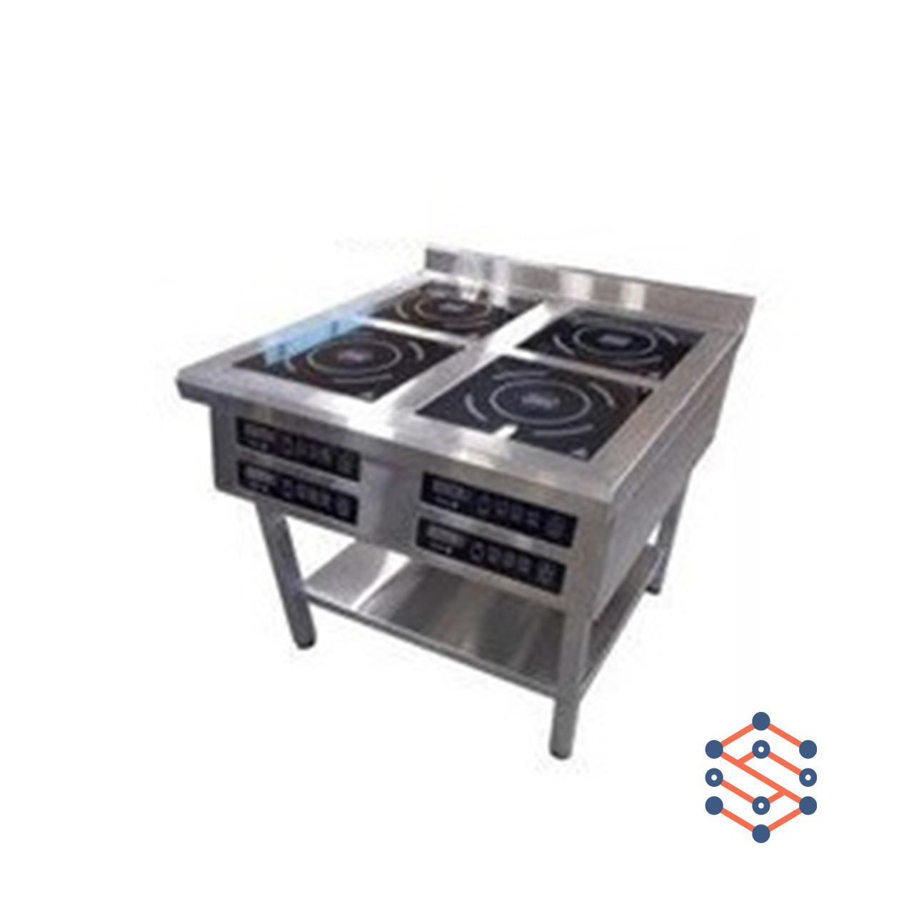 Плита 4-х конфорочная индукционная, напольная (800*900*850)
