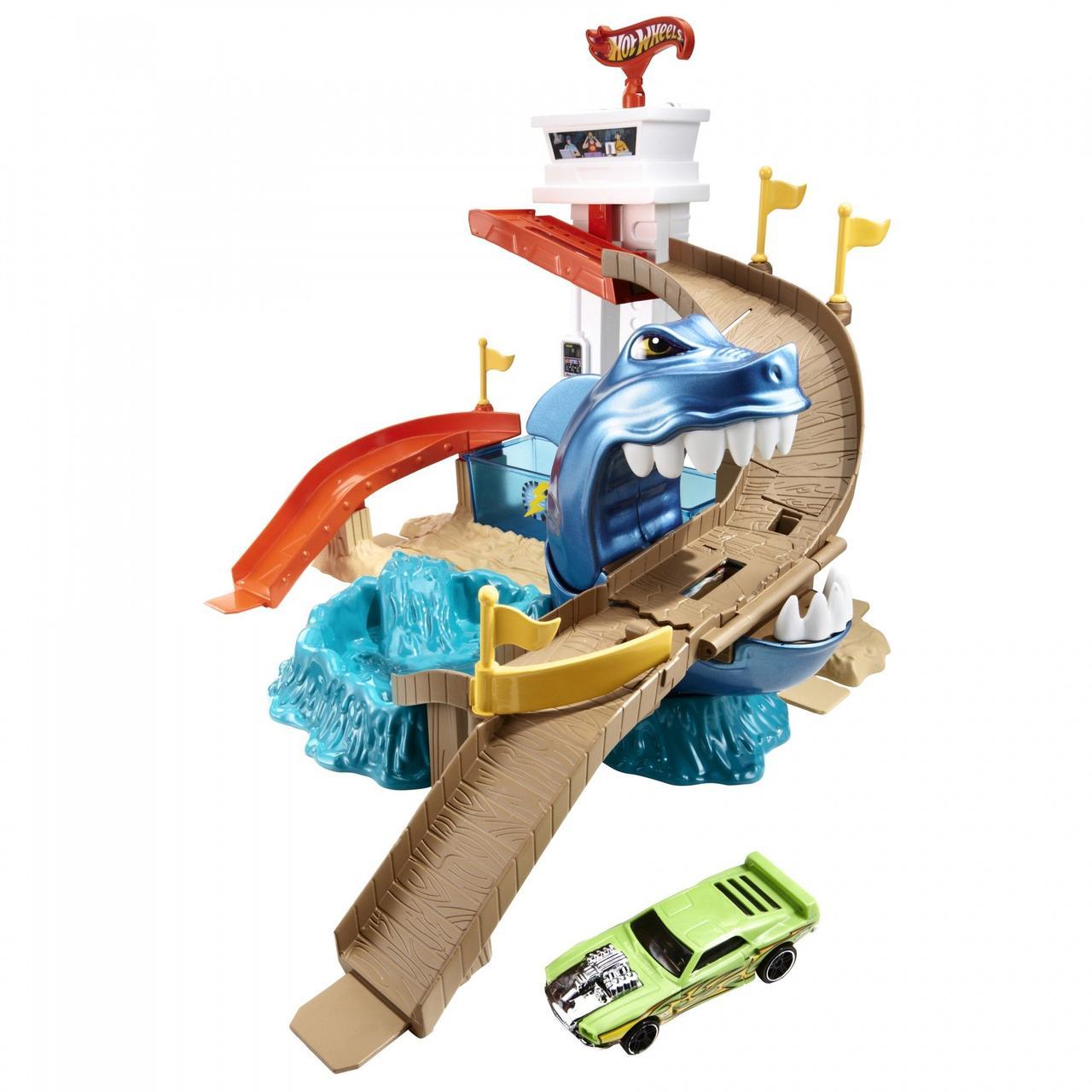 Трек Hot Wheels BGK04 Атака акулы (Охота на акулу). Оригинал Mattel